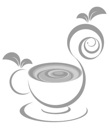 teacups: Green tea cup icon illustration