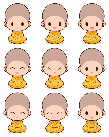 clergyman: Facial expression of the buddhist Monk