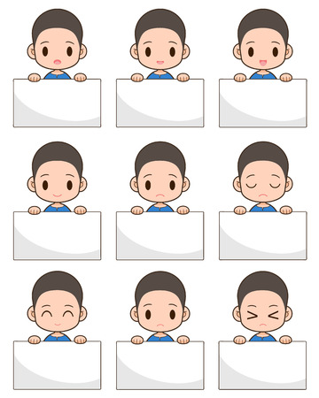 Young and handsome guy posing over white background Vector
