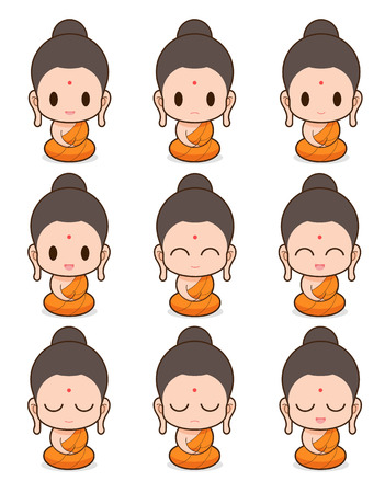 buddhist monk: Facial expression of the buddhist Monk