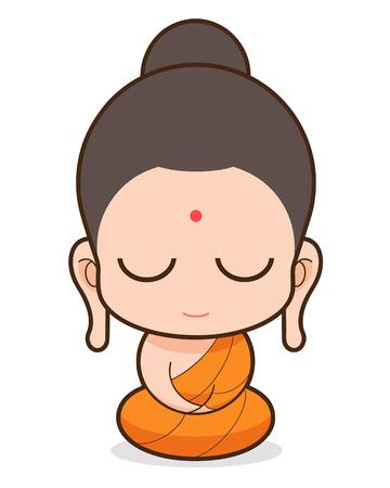 仏教の僧侶の漫画