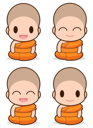 felicity: Buddhist Monk illustration, Expression
