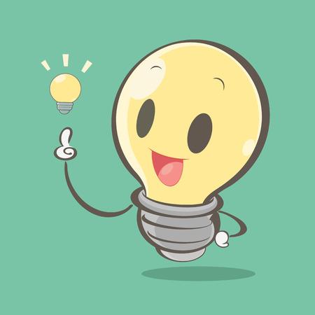 Cartoon light bulb Illustration