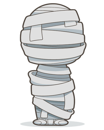 bandages: Mummy, Vector clip art illustration