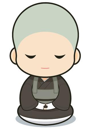monasticism: Buddhist monasticism cartoon, japanese