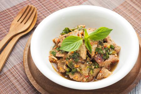 nam: Moo Nam Tok, Thai Spicy Grilled Pork Salad