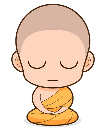 ordinate: Buddhist Monk cartoon