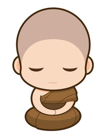 clergy: Monje budista de dibujos animados