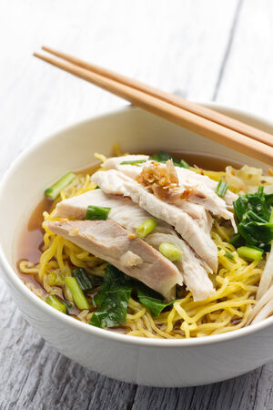 chicken noodle: Chicken Noodle Soup Recipe Stock Photo