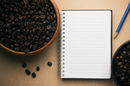 treatise: Book and coffee beans Stock Photo