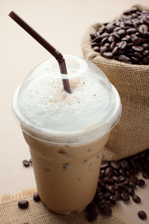 ice plant: iced blended frappucino, coffee beans