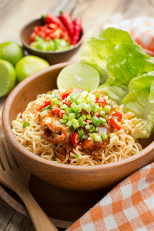 cooked instant noodle: Instant noodles