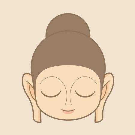 buddha image: Buddha statue head