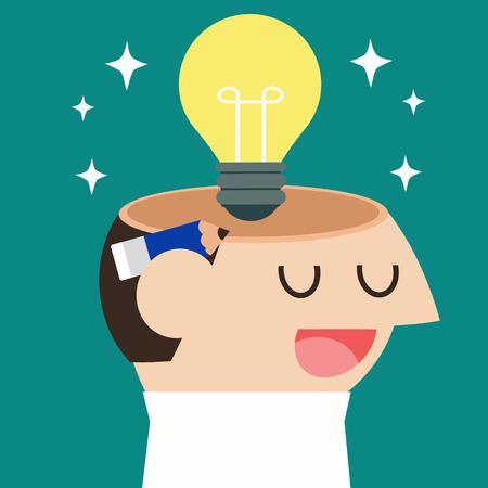 brilliant idea: Business get idea Illustration