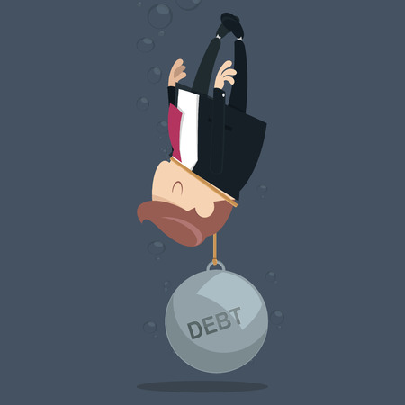 disconsolate: Businessman appeal for aid because debt weigh Illustration