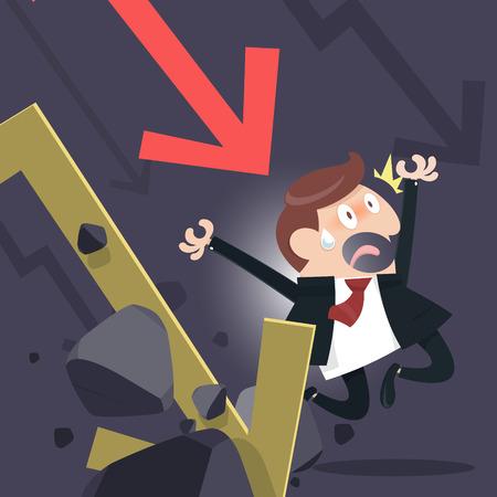 penniless: Shares fall