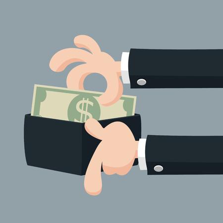 Businessmans hand offering money