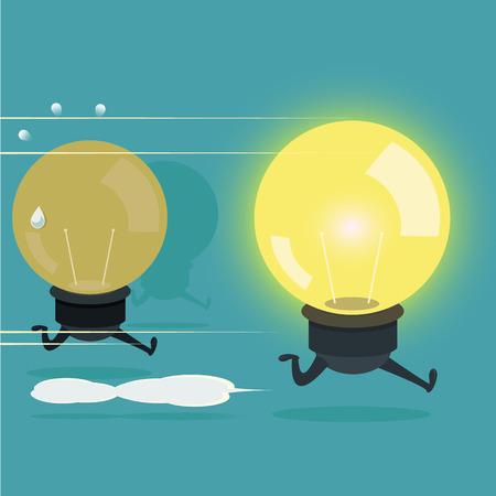 vecter: The best idea is a winner, illustration Illustration