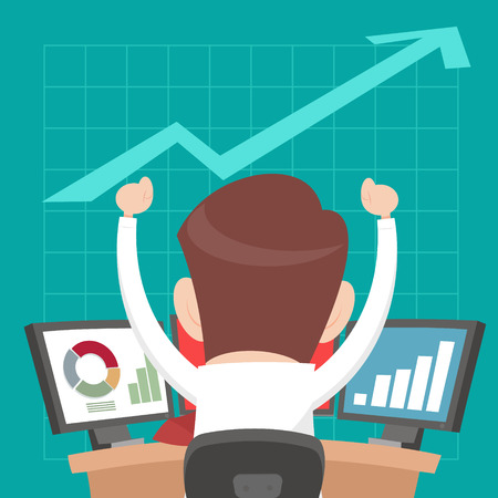 hombres ejecutivos: Exitosos empresarios de jugar las acciones