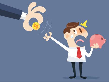grabbing: Hand grabbing money Illustration