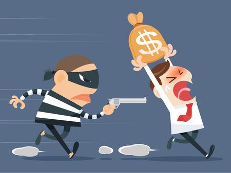 burglar man: Thief stealing