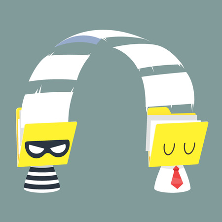 office theft: Frauds Illustration