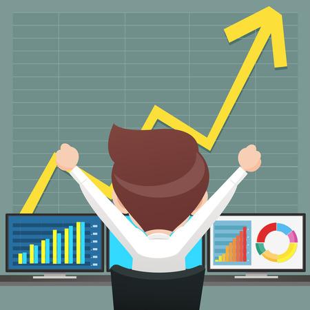 Succesvolle zakenmensen uit het spelen van de voorraad Stock Illustratie