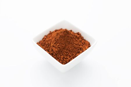 bowls: Cocoa powder