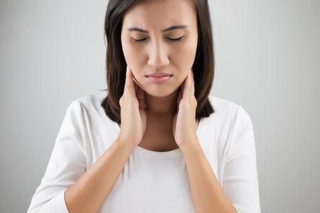 Sore throat woman Reklamní fotografie