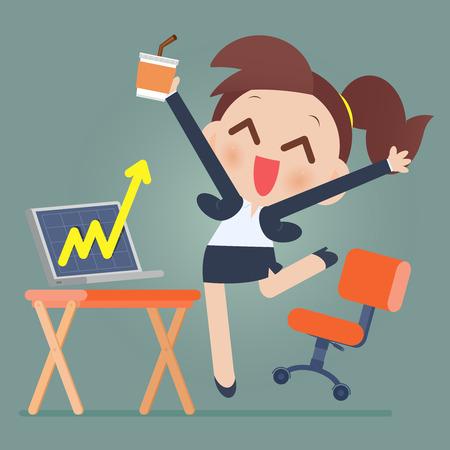 女性実業家: 在庫を遊んでから成功したビジネスウーマン