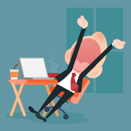 young business man: Young business man yawning