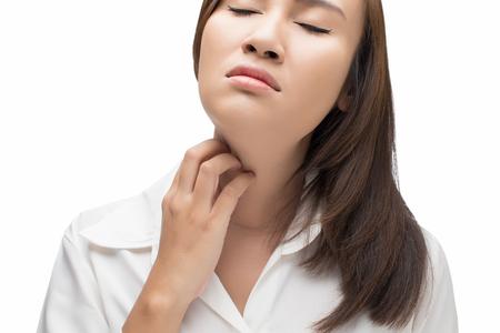 scratching: Woman scratching her self