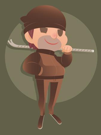 crowbar: Crime cartoon