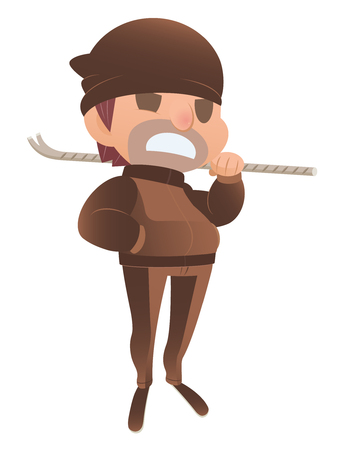 intruder: Male bandit