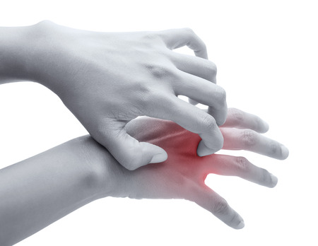 itch: Scratch the itch with hand , Arm, itching, Concept with Healthcare And Medicine. Stock Photo
