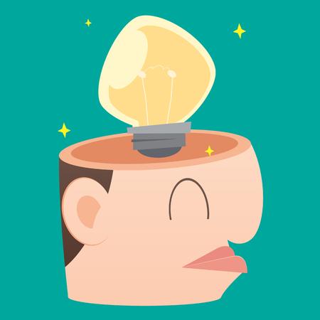 cerebrate: Businessman get the idea