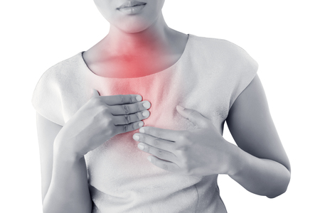 Girl with symptomatic acid reflux.