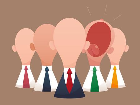 Super business team-team of super businessmen,  Business concept illustration. Illustration