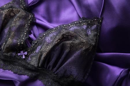 Lace Slip Silk Sleeping Dress Banco de Imagens - 80752719