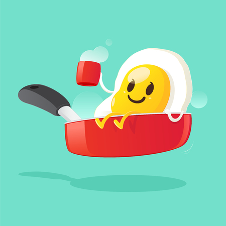 Good morning, Smile for sweet breakfast, Vector illustration Illustration