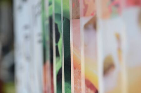 Colorful zinc wall paintings used as wallpaper.