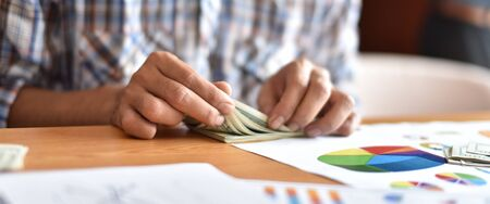 cash business Dividing Benefits . Cash Business Sharing money To use in the job The result is quite a lot of money. Stock Photo