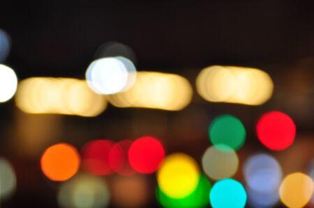 Beautiful blur and bokeh images. christmas light night,abstract circular bokeh background