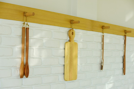 Kitchenware Hang on the wall decoration restaurant. Stockfoto