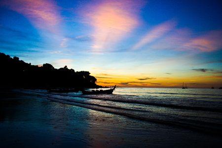 sunset at Patong Beach,Phuket,Thailand