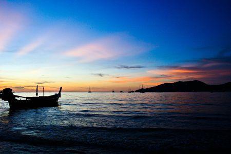 Sunset at Patong beach,Phuket,Thailand Foto de archivo