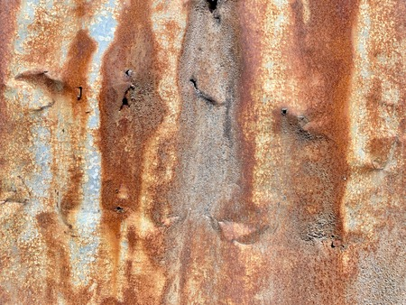 Zinc rust resistant on galvanized iron as natural background