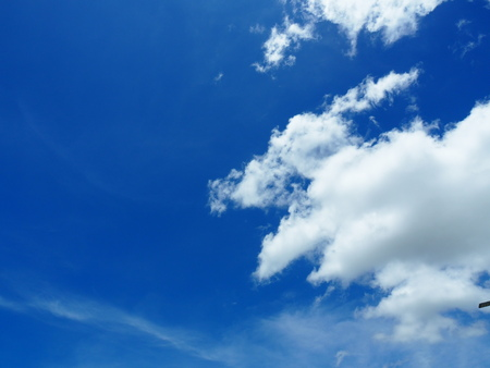 Blue sky and white clouds in sunshine day