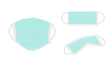 ear-loop face mask or hygienic mask to prevent pollutant must have for people in Bangkok,Thailand.