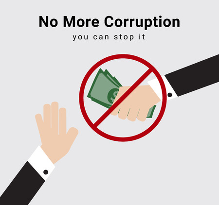 People or eligible voter say no and stop receive money from anyone for election dealing or commission for anti-corruption  イラスト・ベクター素材